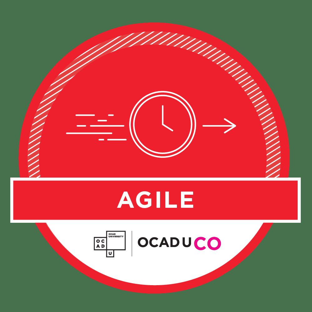 OCAD U CO Workshop Achievement Badges - Agile