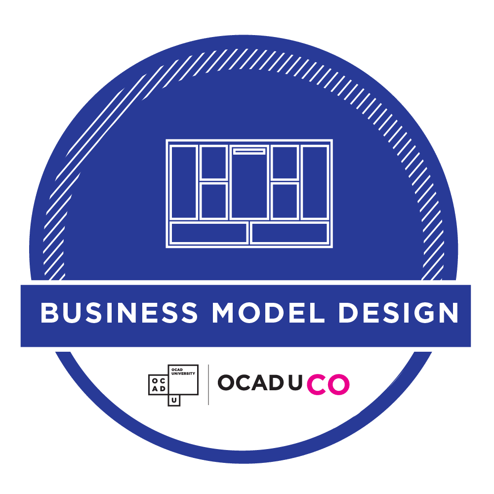 OCAD U CO Workshop Achievement Badges - Business Model Design